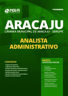 Apostila Câmara de Aracaju 2020 Analista Administrativo Grátis Cursos Online