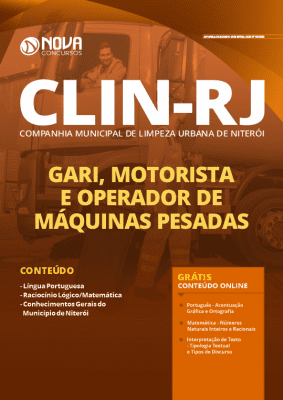 Apostila Concurso CLIN RJ 2020 Grátis Cursos Online