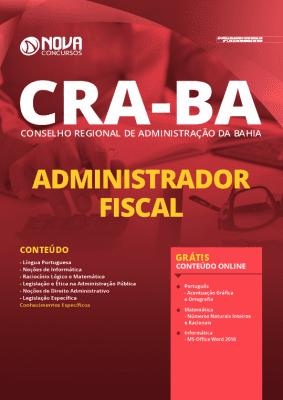 Apostila Concurso CRA BA 2020 Administrador Fiscal Grátis Cursos Online
