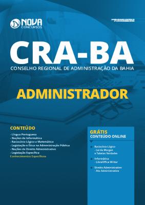 Apostila Concurso CRA BA 2020 Administrador Grátis Cursos Online