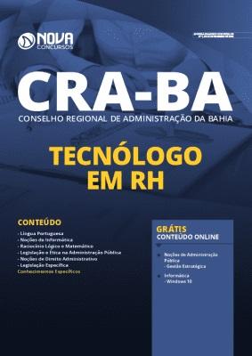 Apostila Concurso CRA BA 2020 Tecnólogo em RH Grátis Cursos Online
