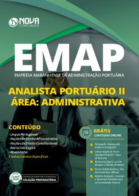 Apostila Concurso EMAP 2020 Analista Portuário - Área: Administrativa Impressa e PDF Grátis Cursos Online