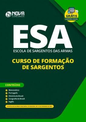 Apostila Concurso ESA 2020 Grátis Curso Online ESA