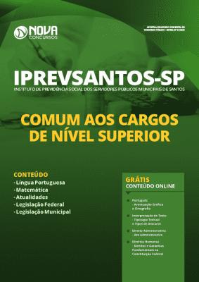 Apostila Concurso IPREVSANTOS 2020 Nível Superior Grátis Cursos Online