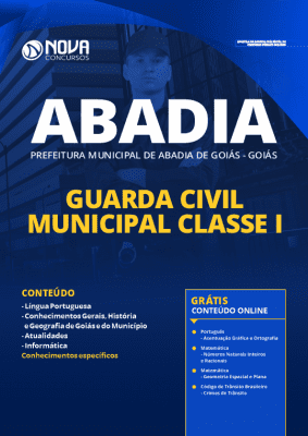 Apostila Concurso Prefeitura de Abadia de Goiás 2020 Guarda Municipal Grátis Cursos Online