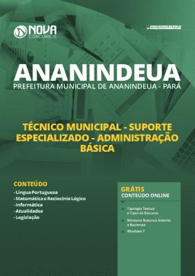 Apostila Concurso Prefeitura de Ananindeua 2020 Nível Médio Grátis Cursos Online