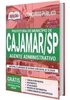 Apostila Concurso Prefeitura de Cajamar 2020 Agente Administrativo PDF e Impresa