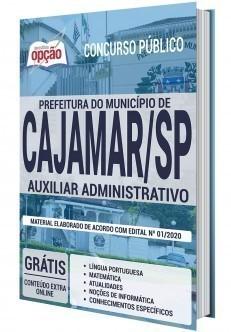 Apostila Prefeitura de Cajamar 2020 Auxiliar Administrativo PDF e Impressa