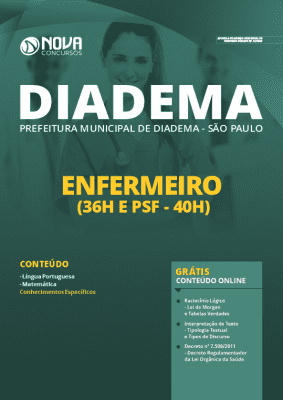 Apostila Concurso Prefeitura de Diadema 2020 Enfermeiro Grátis Cursos Online