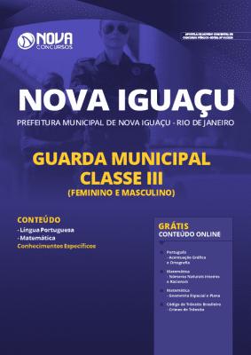 Apostila Concurso Prefeitura de Nova Iguaçu 2020 Guarda Municipal Grátis Cursos Online