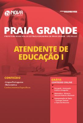 Apostila Concurso Prefeitura de Praia Grande 2020 Atendente de Educação Grátis Cursos Online