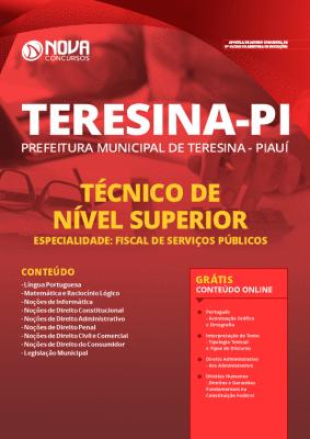 Apostila Concurso Prefeitura de Teresina 2020 Fiscal Grátis Cursos Online