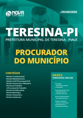 Apostila Concurso Prefeitura de Teresina 2020 Procurador do Município Grátis Cursos Online