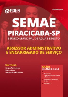 Apostila Concurso SEMAE Piracicaba 2020 Assessor Administrativo e Encarregado de Serviço Grátis Cursos Online