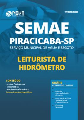 Apostila Concurso SEMAE Piracicaba 2020 Leiturista de Hidrômetro Grátis Cursos Online