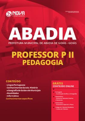 Apostila Prefeitura de Abadia de Goiás 2020 Professor Pedagogia Grátis Cursos Online
