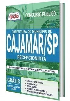 Apostila Prefeitura de Cajamar 2020 Recepcionista PDF e Impressa