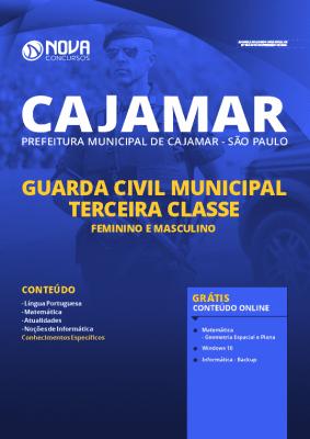 Apostila Prefeitura de Cajamar SP 2020 Guarda Municipal Grátis Cursos Online