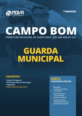 Apostila Prefeitura de Campo Bom RS 2020 Guarda Municipal Grátis Cursos Online