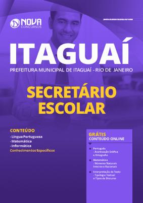 Apostila Prefeitura de Itaguaí 2020 Secretário Escolar Grátis Cursos Online