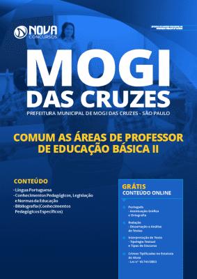 Apostila Concurso Prefeitura de Mogi das Cruzes 2020 Professor de Educação Básica II Impressa e PDF Grátis Cursos Online