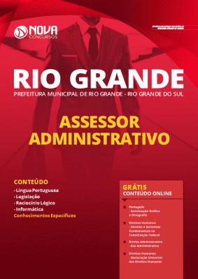 Apostila Prefeitura de Rio Grande 2020 Assessor Administrativo Grátis Cursos Online
