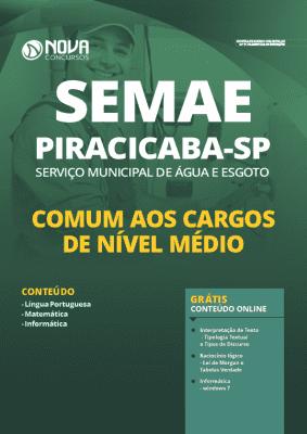 Apostila SEMAE Piracicaba SP 2020 Nível Médio Grátis Cursos Online