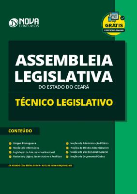 Apostila Concurso Assembleia Legislativa CE 2020 Técnico Legislativo Grátis Cursos Online