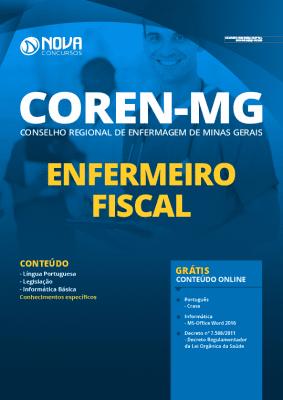 Apostila Concurso COREN MG 2020 Enfermeiro Fiscal Grátis Cursos Online