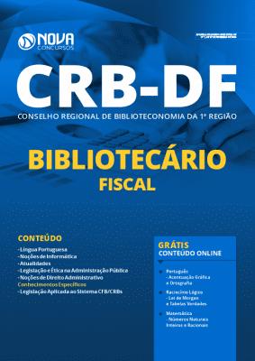 Apostila Concurso CRB1 DF 2020 Bibliotecário Fiscal Grátis Cursos Online