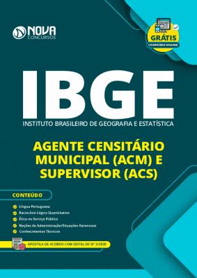 Apostila Concurso IBGE 2020 Agente Censitário Grátis Cursos Online