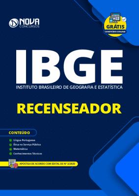 Apostila Concurso IBGE 2020 Recenseador Grátis Cursos Online