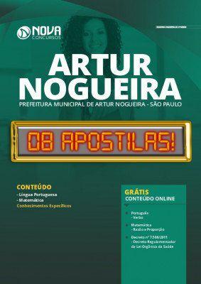 Apostila Concurso Prefeitura de Artur Nogueira SP 2020 Grátis Cursos Online
