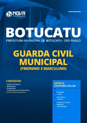 Apostila Concurso Prefeitura de Botucatu 2020 Guarda Civil Municipal Grátis Cursos Online