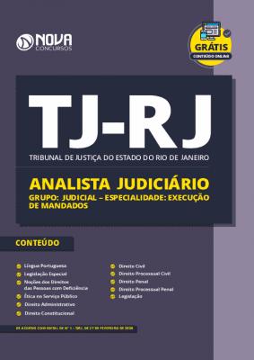 Apostila Concurso TJ RJ 2020 Analista Judiciário Especialidade Execução de Mandados Grátis Cursos Online