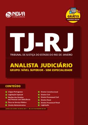 Apostila TJ RJ 2020 Analista Judiciário Impressa e PDF Grátis Cursos Online Sem Especialidade