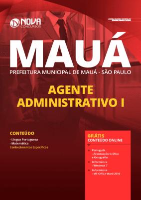 Apostila Prefeitura de Mauá SP 2020 Agente Administrativo Grátis Cursos Online