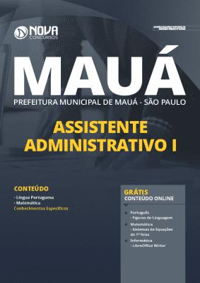 Apostila Prefeitura de Mauá SP 2020 Assistente Administrativo Grátis Cursos Online