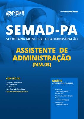 Apostila SEMAD PA 2020 Assistente de Administração Grátis Cursos Online
