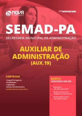Apostila SEMAD PA 2020 Auxiliar de Administração Grátis Cursos Online
