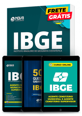 Kit de Estudos de Agente Censitário do IBGE 2020 Completo
