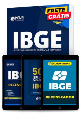 Kit de Estudos de Recenseador do IBGE 2020 Completo