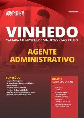 Apostila Câmara de Vinhedo SP 2020 Agente Administrativo Grátis Cursos Online