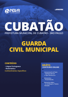 Apostila Concurso Prefeitura de Cubatão 2020 Guarda Municipal Grátis Cursos Online
