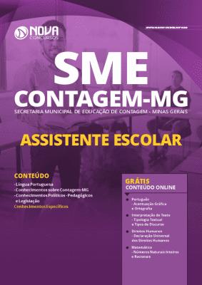 Apostila Concurso SME Contagem MG 2020 Assistente Escolar Grátis Cursos Online
