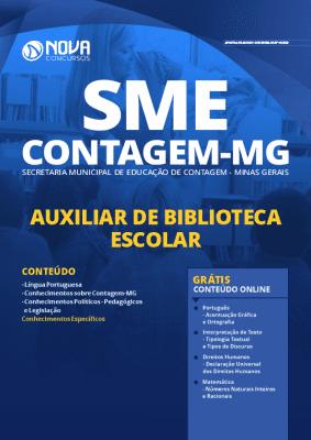Apostila Concurso SME Contagem MG 2020 Auxiliar de Biblioteca Escolar Grátis Cursos Online