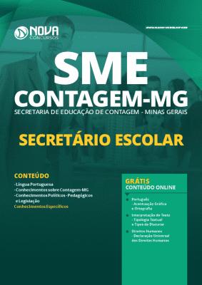 Apostila Concurso SME Contagem MG 2020 Secretário Escolar Grátis Cursos Online