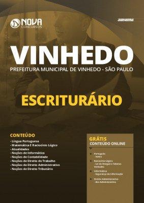 Apostila Concurso Prefeitura de Vinhedo 2020 Escriturário Grátis Cursos Online