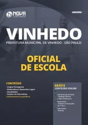 Apostila Prefeitura de Vinhedo 2020 Oficial de Escola Grátis Cursos Online