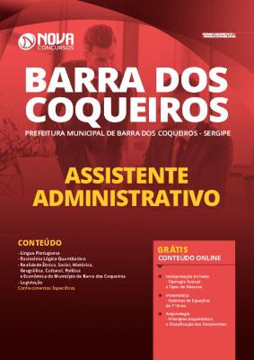 Apostila Concurso Prefeitura de Barra dos Coqueiros 2020 Assistente Administrativo Impressa e PDF Grátis Cursos Online